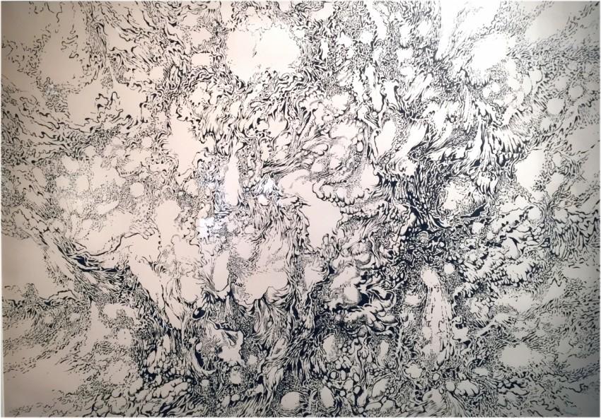 Masznyik Iván Genezis tuspapír 61 x 86 cm 1966