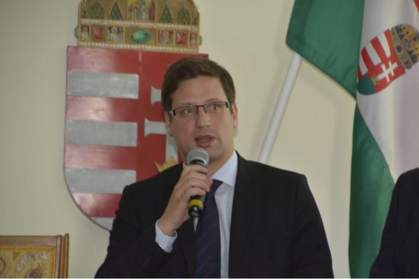 Gulyás Gergely, az Országgyűlés alelnöke. Fotó: Szántó András