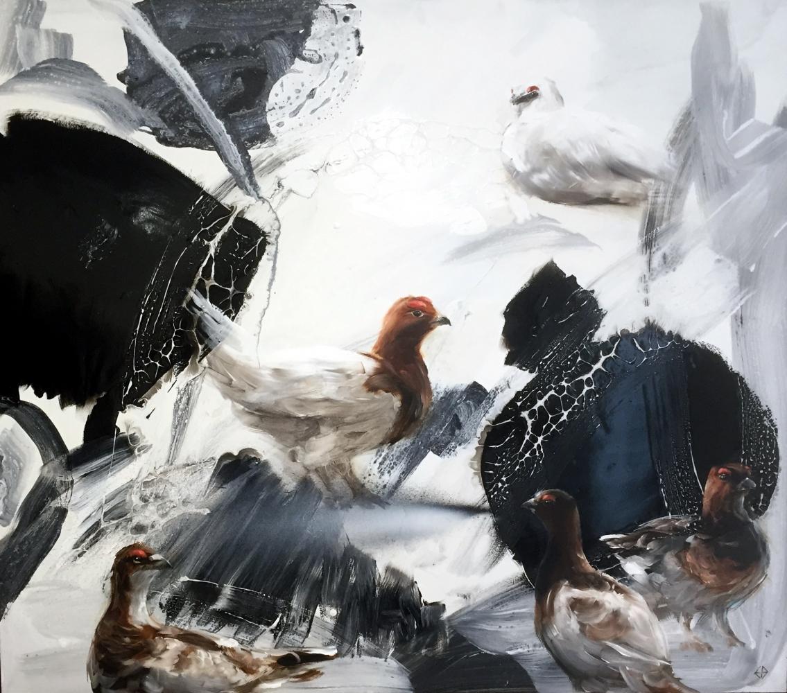 2019 Ernst Bilgren festmények 70x80 cm olaj-farostlemez
