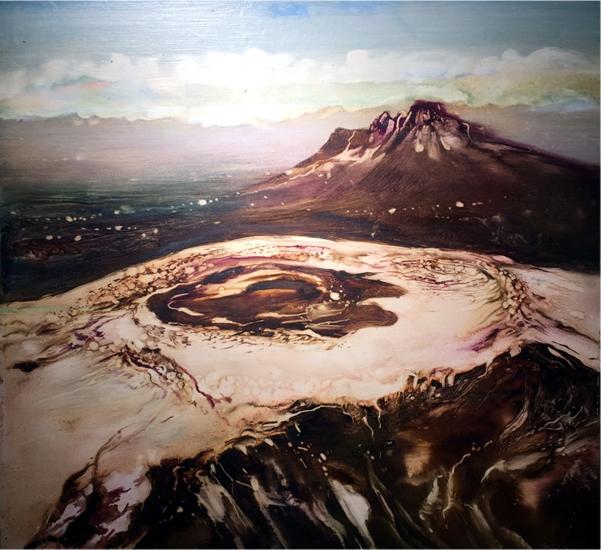 Máriási Iván Havas kráter, olaj-farostlemez