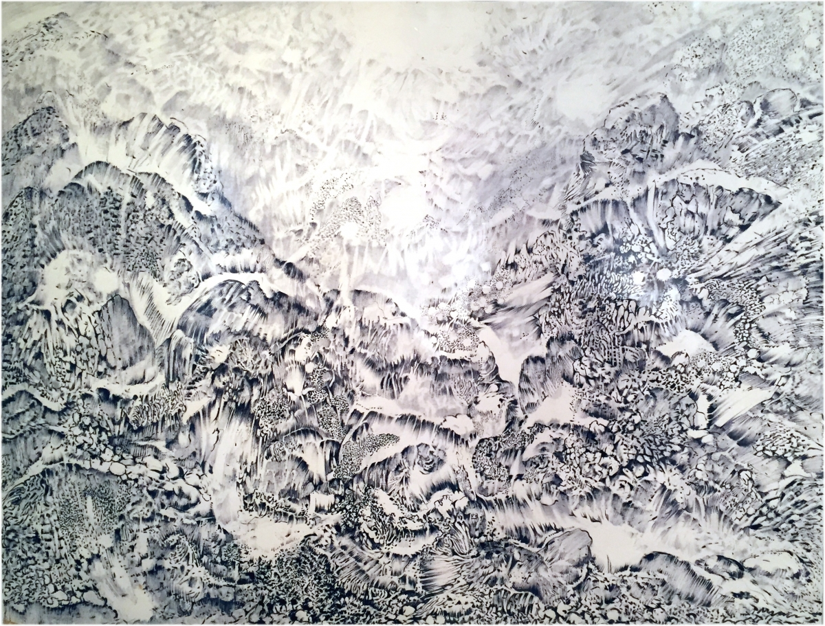 Máriási Sziklás hegyvonulatok filctoll-papír  61 x 81 cm