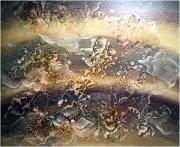 Máriási Iván Tűzhorizont olaj - farostlemez