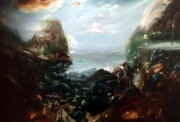 2019 Ernst Bilgren festmenye 80x125 cm olaj farostlemez