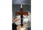 2019 Ernst Bilgren Gépkereszt 95x45 cm olaj-farost